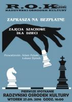 Bezpłatne zajęcia szachowe dla dzieci image