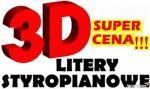 Litery Styropianowe 3D Wycinanie  liter , cyfr , Grafiki