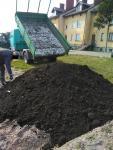 Ziemia torfowa ogród trawnik kwiaty czarnoziem