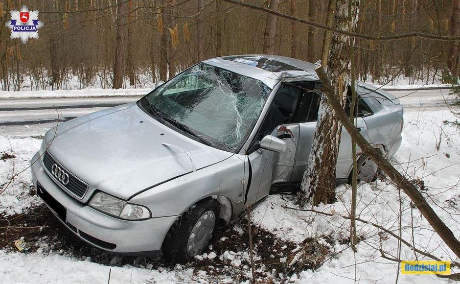 Samochód po zderzeniu