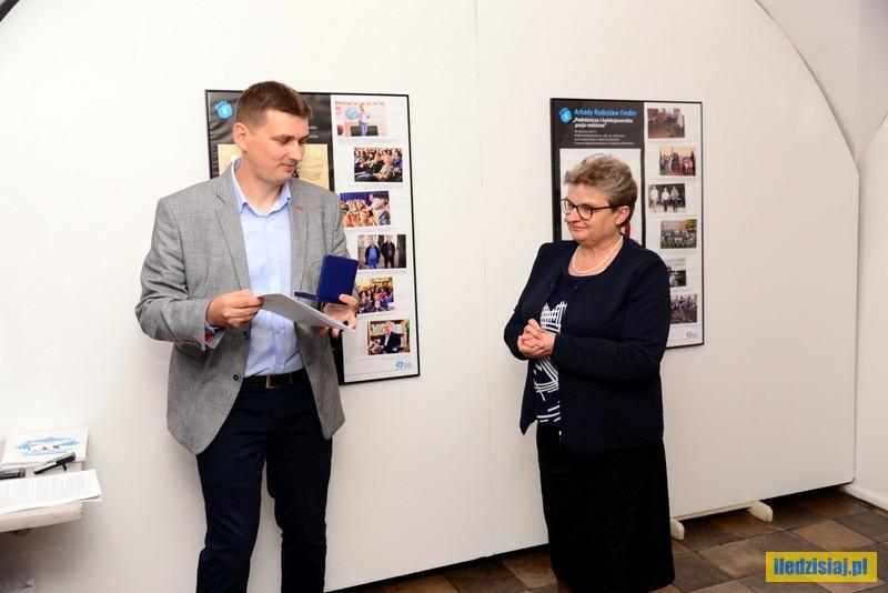 Robert Mazurek i Anna Wasak podczas Radzyńskich Spotkań z Podróżnikami